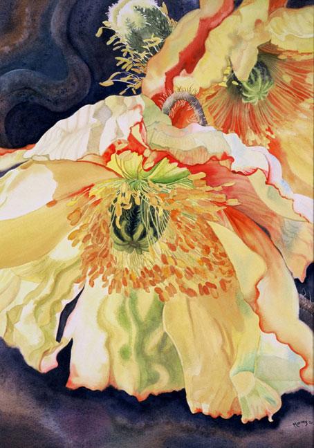 Цветочные акварели от Марни Вард (Marney Ward)