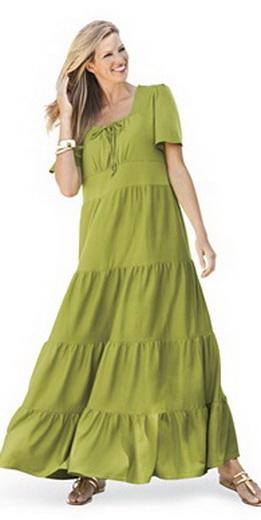 Платья А-силуэта для полных женщин[1]