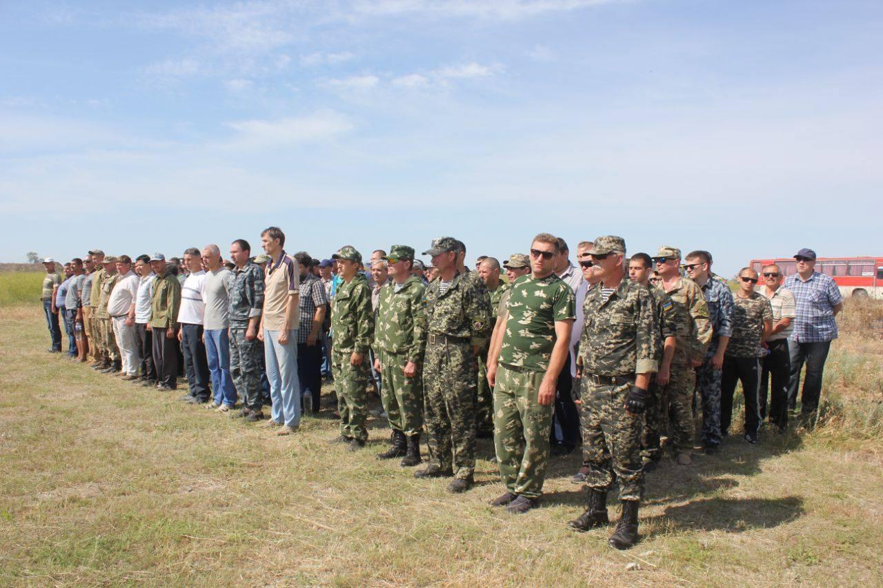 В Херсонской области на учения отрядов территориальной обороны согнали сотни резервистов