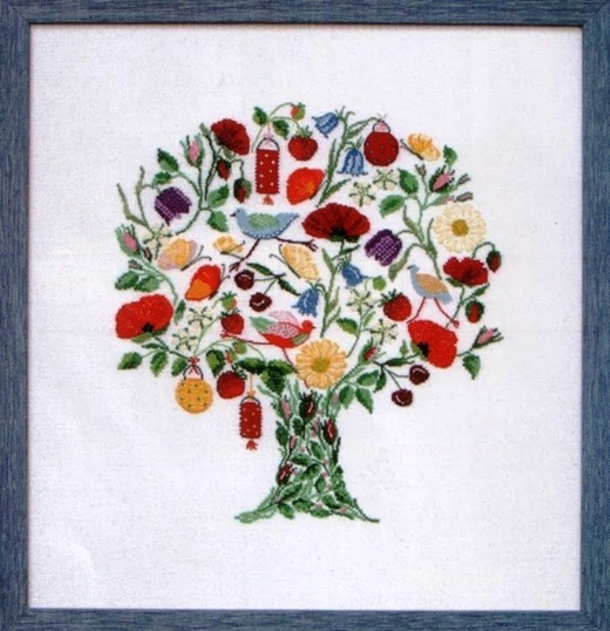 Схемы для вышивки крестом «Дерево счастья» (японское)