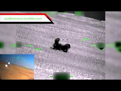 Опубликовано видео разгрома сирийских террористов с вертолета Ка-52
