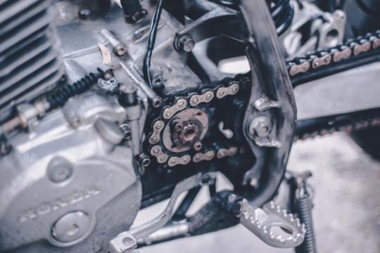 Крупный план кастом Honda XR600
