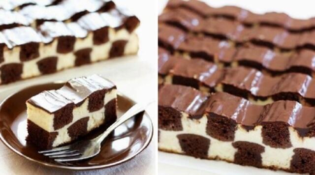 Шахматный торт. Соблазнительно и очень вкусно