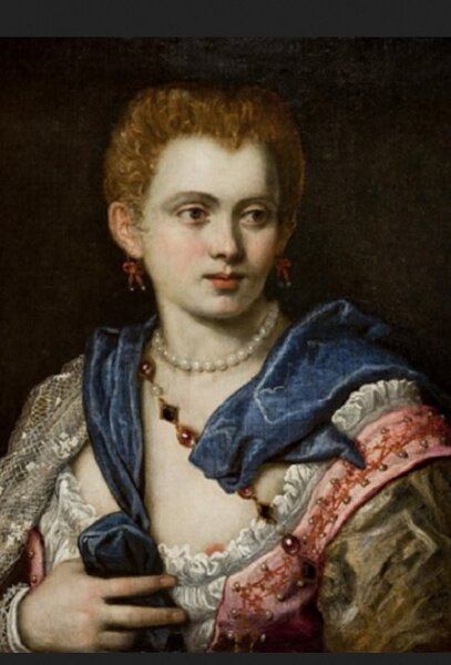 Якопо или Доменико Тинторетто (?). Предполагаемый портрет Вероники Франко