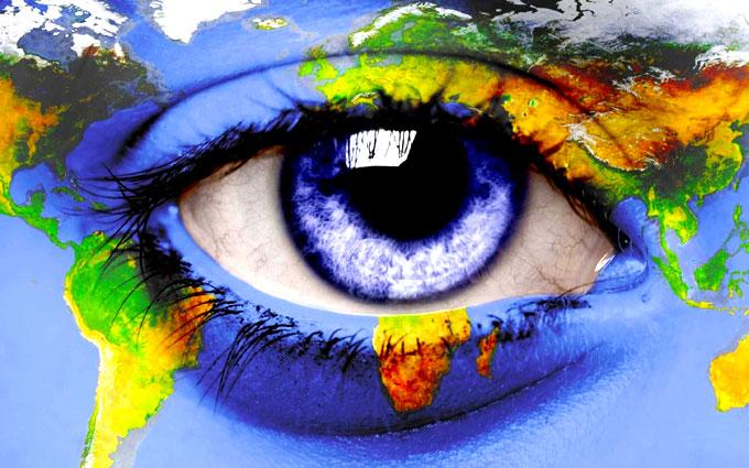 Карта мира с другой точки зрения