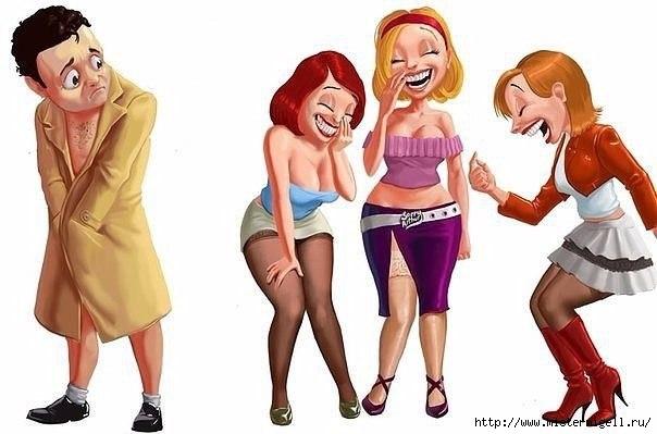 На подтяжках держатся штаны мужчин и лица женщин  ))