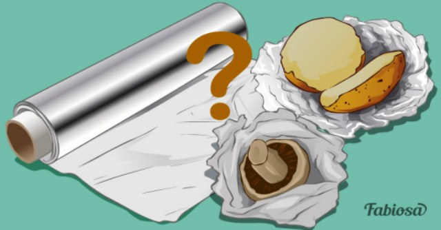 Какую сторону фольги использовать при запекании?