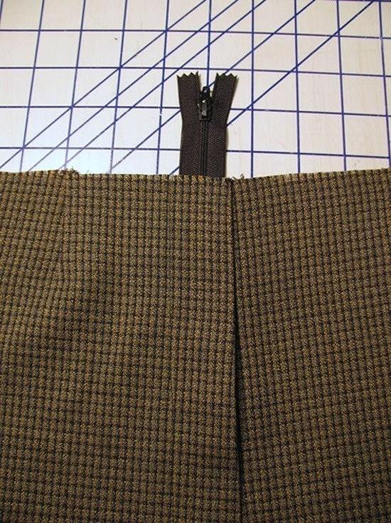Способ вшивания застёжки-молнии