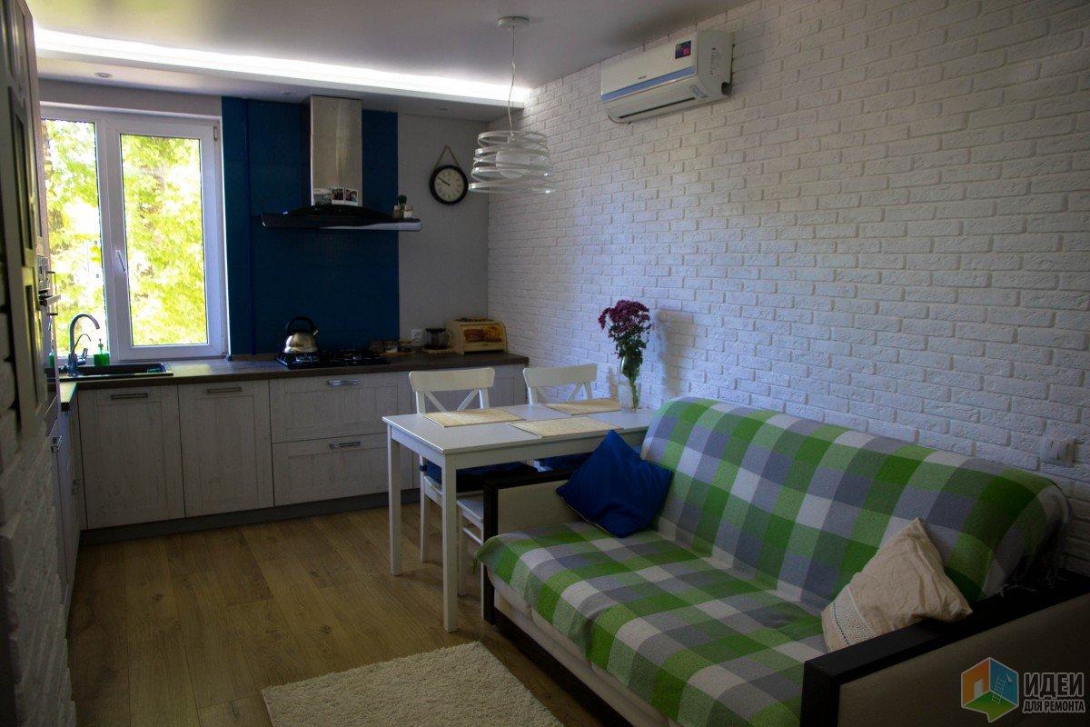 Кухня 15 кв.м. Хотели сканди, но получилось, что получилось...