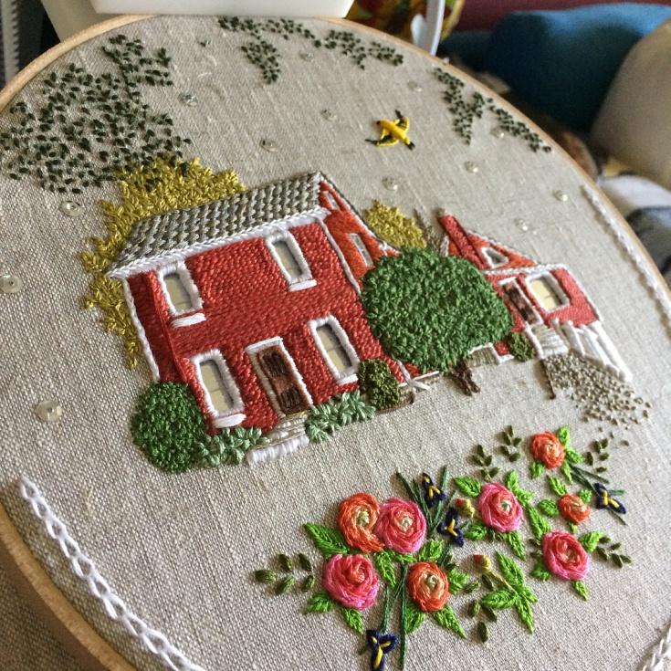 Вышитые домики Theresa Lawson — чудесные идеи для вдохновения
