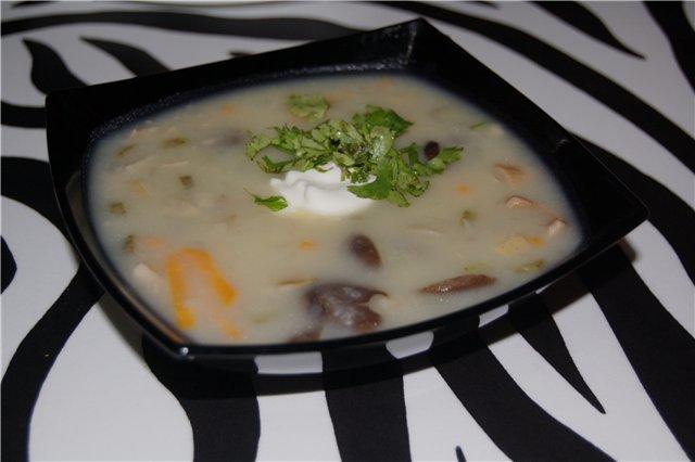 Мой грибной суп. Легкий и дешевый...