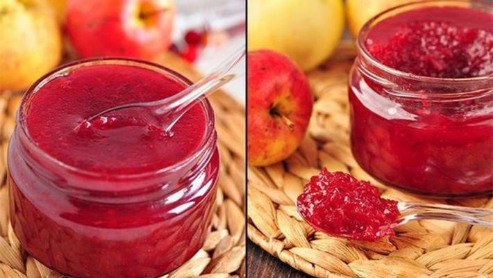 Варим яблочный чудо-джем с добавлением клюквы