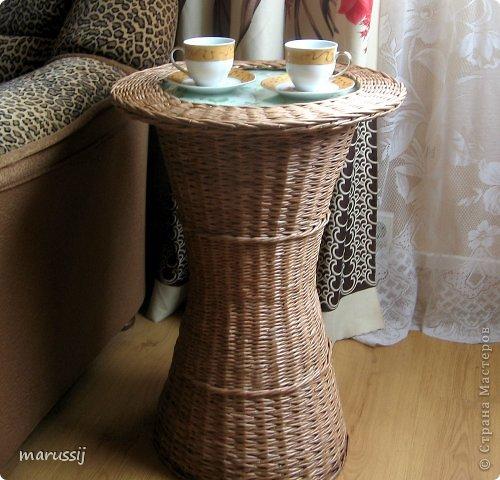 Мастер-класс Поделка изделие Рождество Плетение Чайный столик №2 Бумага газетная Трубочки бумажные фото 17