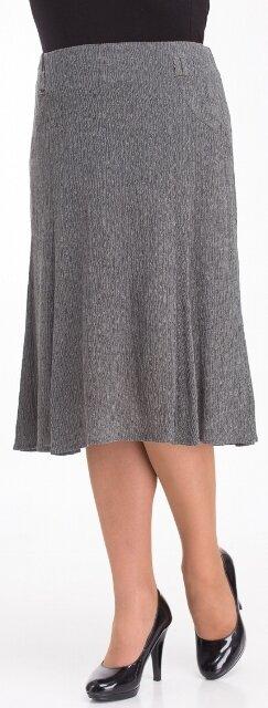 Серая юбка из меланжевой ткани