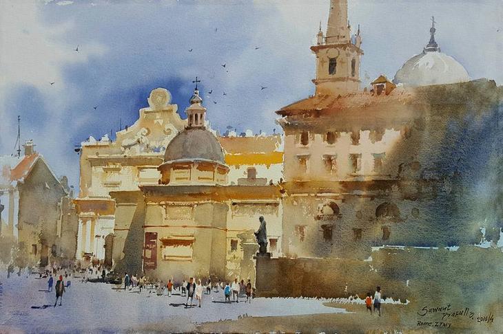äþÃâþ Indian Watercolor Painting.