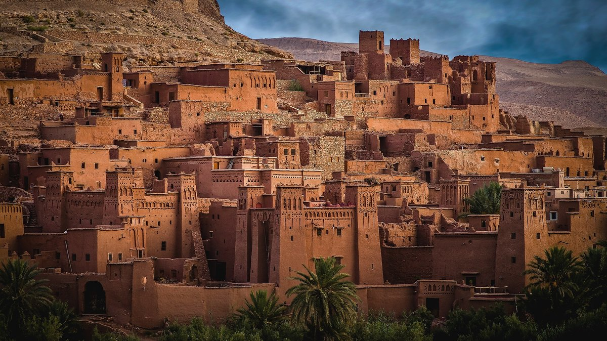 Касба Айт-Бен-Хадду, Марокко. Памятник Всемирного наследия ЮНЕСКО