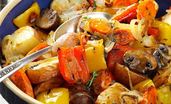 Как запекать овощи, чтобы на…