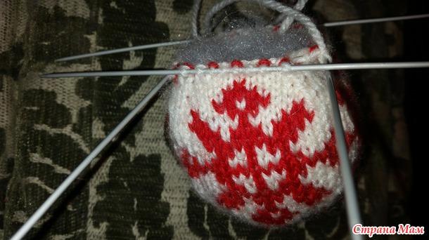 Вязанные елочные шары в Норвежском стиле. МК часть 2.