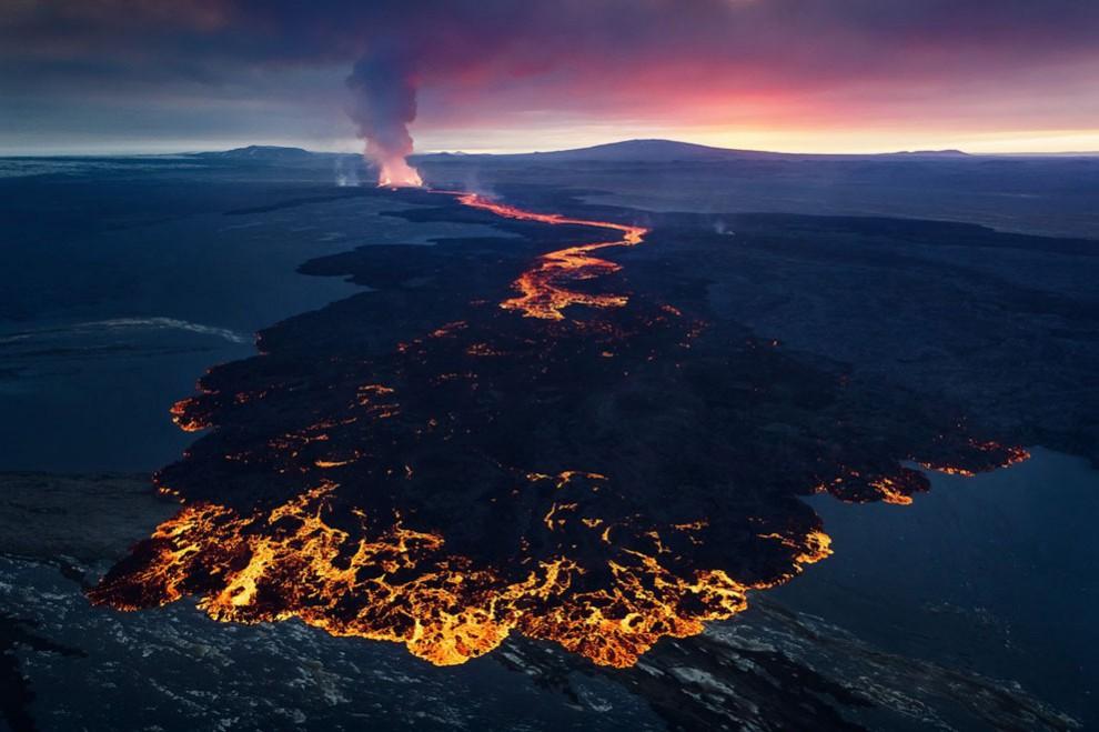 Vulcão na Islândia Holuhraun