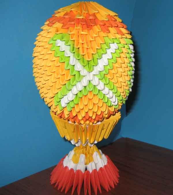 Модульное оригами пасхальное яйцо-схема