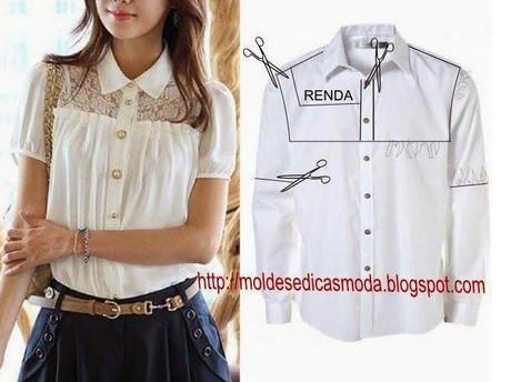 9d57697133b блузка из мужской рубашки - Самое интересное в блогах