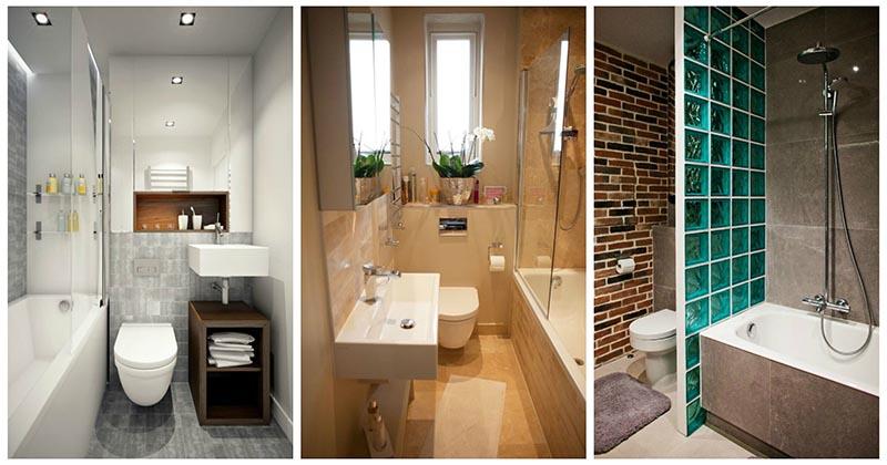 20 удачных примеров дизайна маленькой ванной комнаты