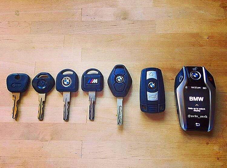 Эволюция ключа зажигания BMW