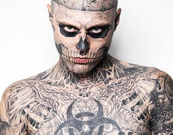 Зомби-Бой - самый красивый татуированный мужчина