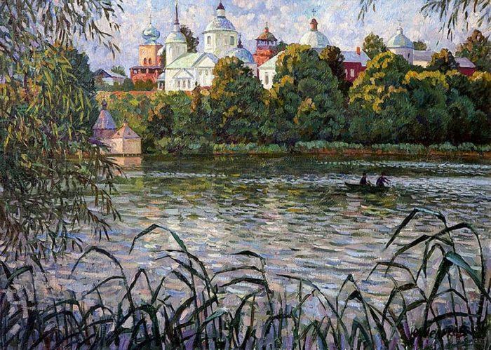 Художник Юрий Мельков. Тёплый летний вечер