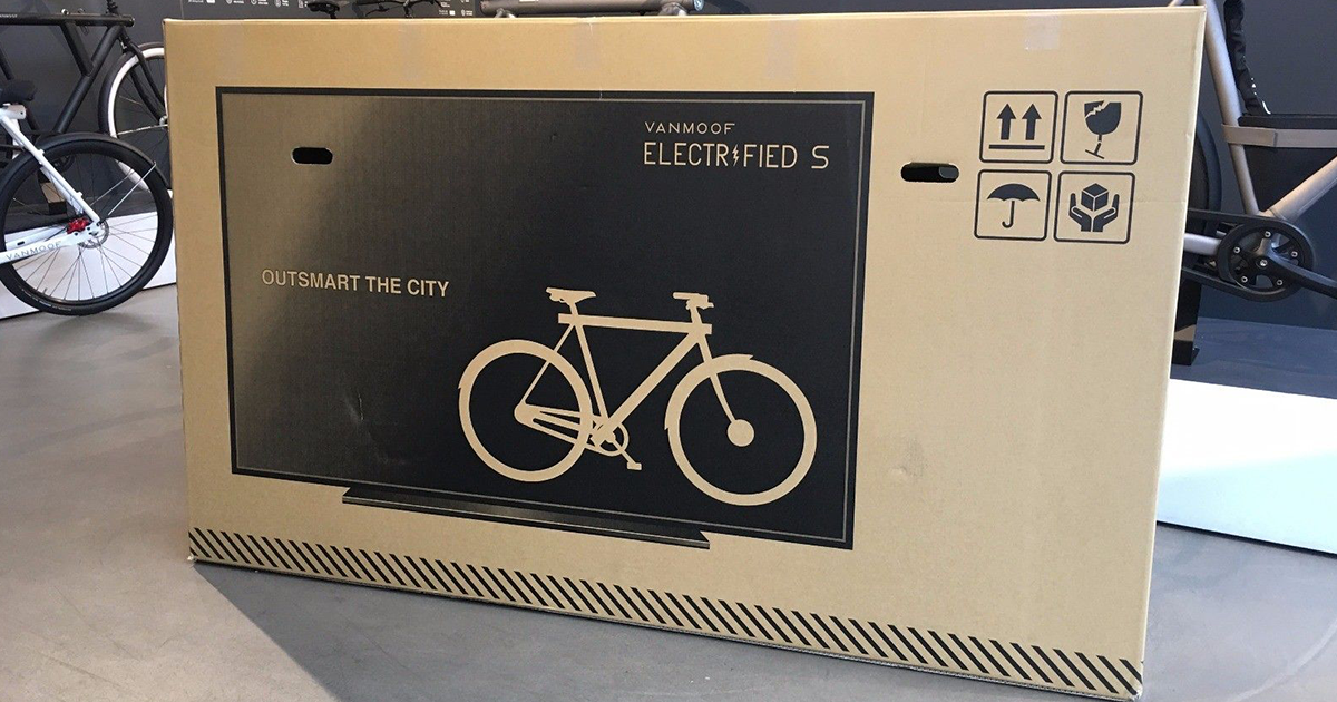 Genius Dutch Company Puts TV On Their $3,000 Bike Packaging, Reduces Shipping Damage By 80%