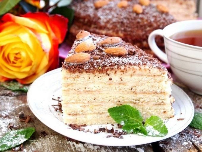 Сметанный торт на сковороде