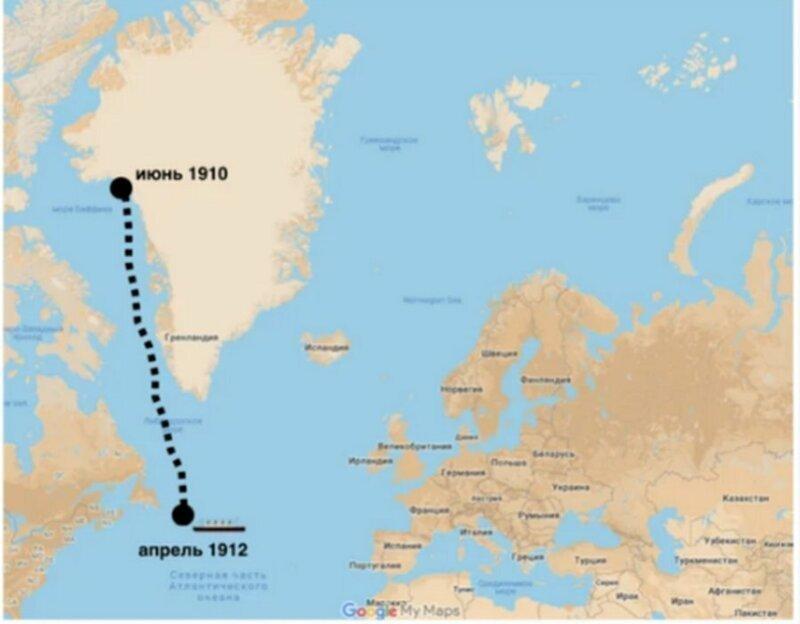 """Родился """"малыш"""" в ледниках Гренландии 3-4 тысячи лет назад  айсберг, интересно, корабль, лед, титаник, факты"""