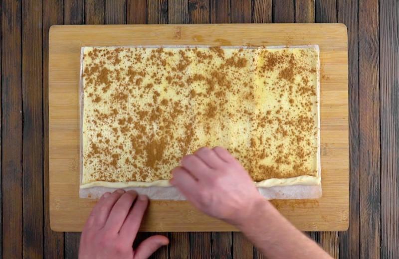Готовим красивейший яблочный пирог. От этого десерта глаз не оторвать
