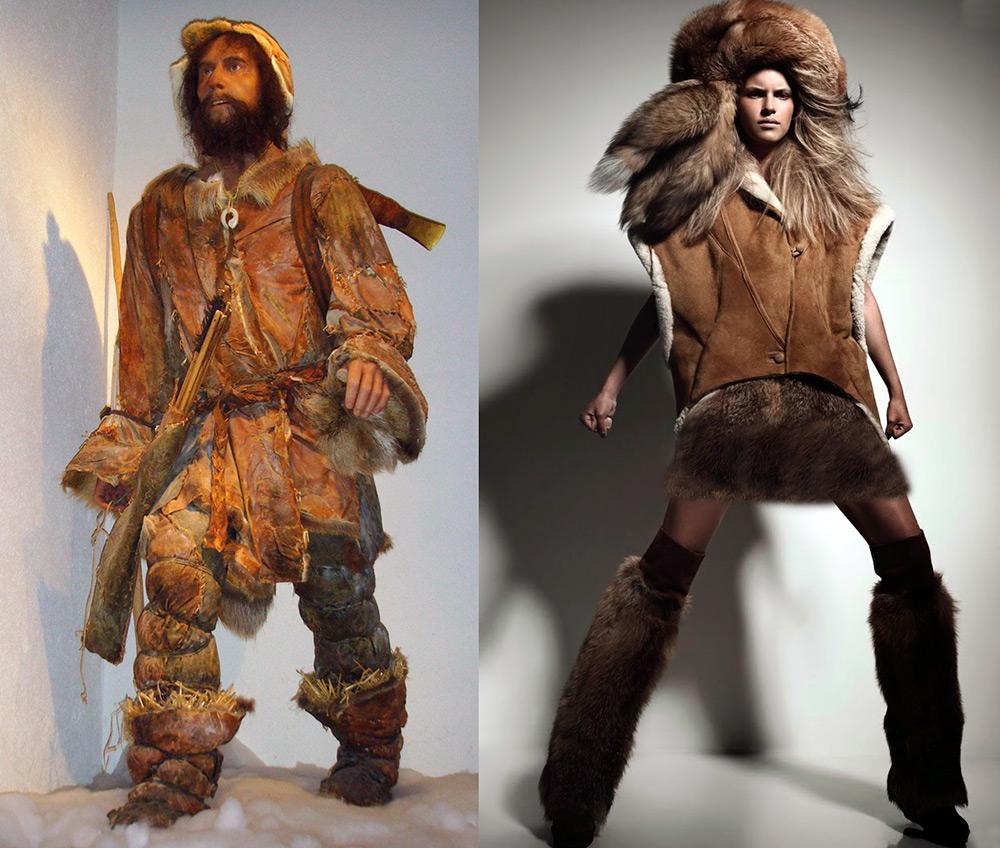 Стиль одежды первобытных людей