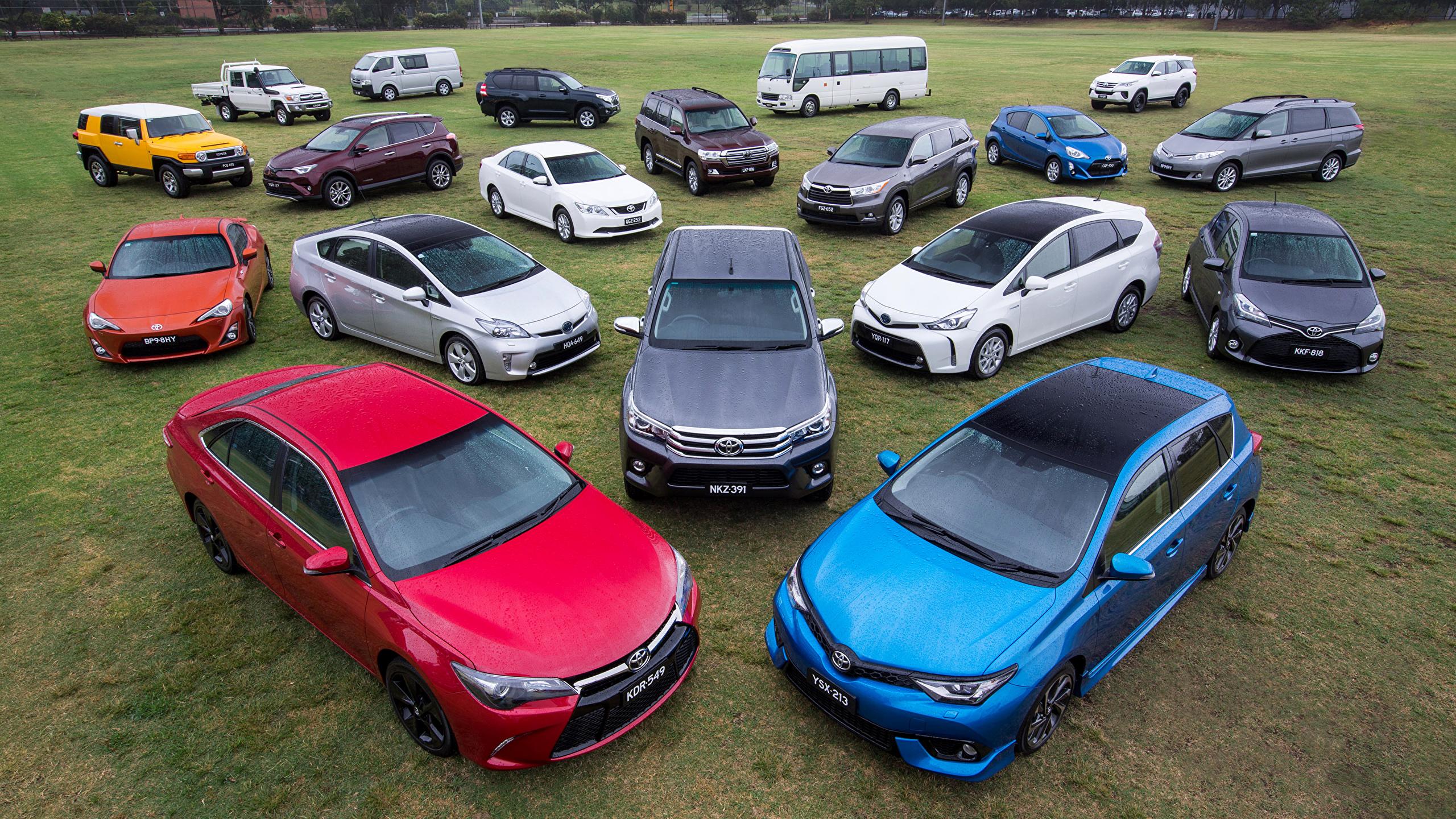 Картинки Toyota Ðвто Много 2560x1440 Тойота Машины Ðвтомобили