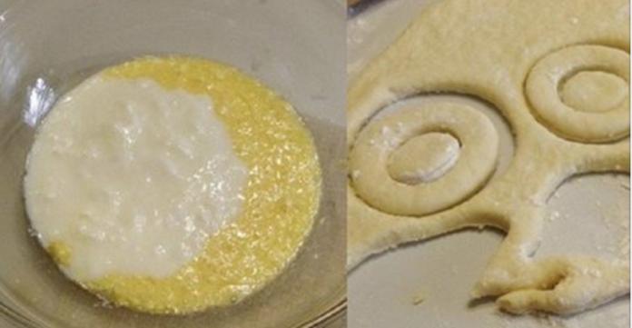 Румяные обжаренные колечки, присыпанные сахарной пудрой