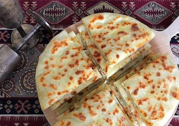 Экспресс-лепешки с картошкой (тесто без дрожжей)