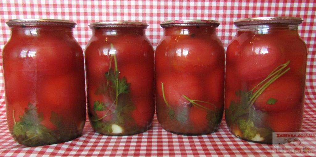 Помидоры в кетчупе «Чили» на зиму