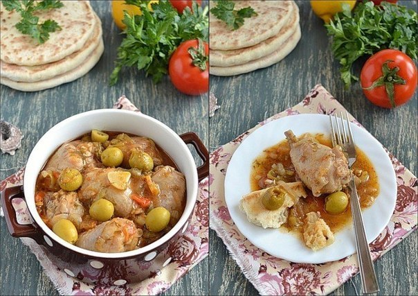 Ароматная курица по-средиземноморски…а соус — просто песня!