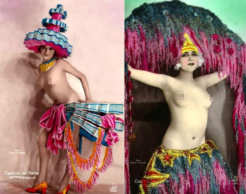 Откровенные винтажные открытки с танцовщицами Казино де Пари