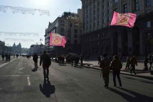 «Марш пленных»: ветераны Дебальцевского котла устроили акцию в центре Киева