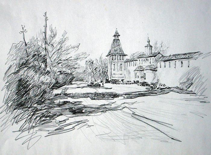 У монастыря в Боровске