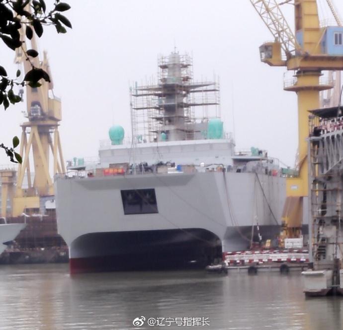 В Китае спущено на воду судно-катамаран морской разведки и наблюдения