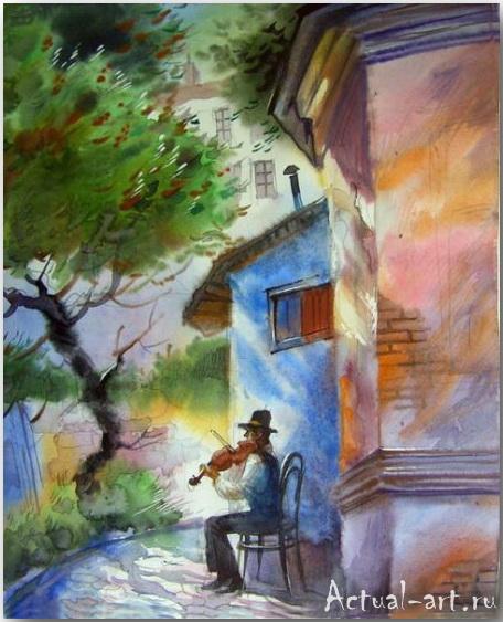 Не трвожь мне душу скрипка...щемящая грусть городских пейзажей Виктора Зелика