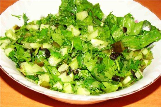 Как приготовить салат из зелени
