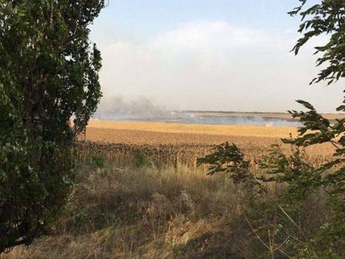 В Донецкой области загорелся склад боеприпасов