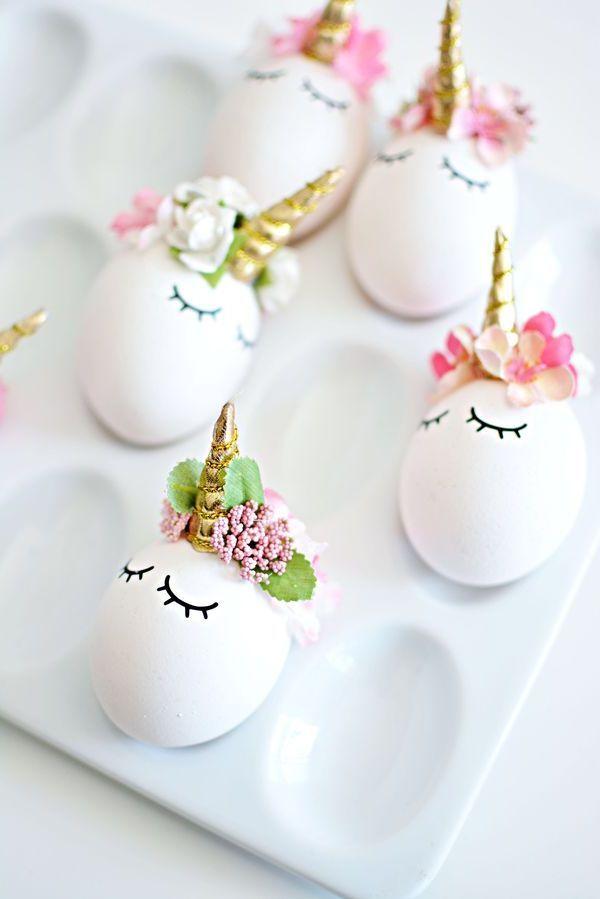 пасхальные яйца - единорожки