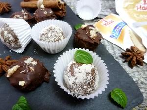 Фото к рецепту: Шоколадно-ореховые конфеты из фасоли