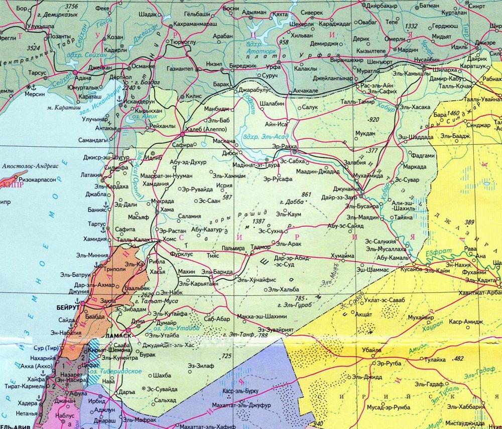 Покажите где находится сирия