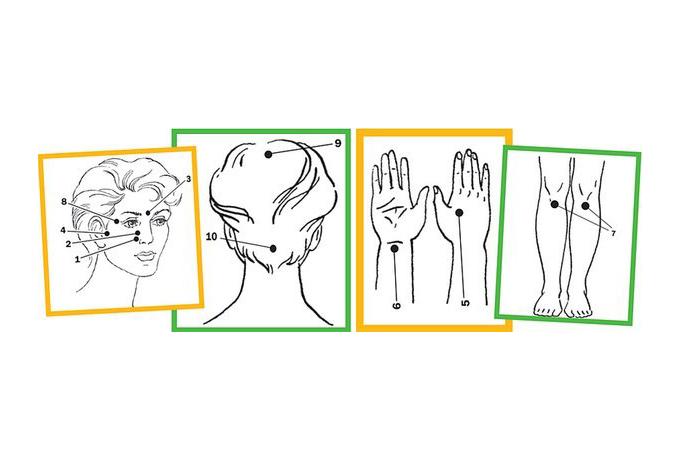 Точечный массаж против простуды